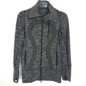 LULULEMON women's Stride zip up hooded jacket Sz 2